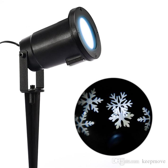 Best quality moving snowflake spotlight indoor outdoor led landscape projector light snowflake for Exterior 400 image projector price