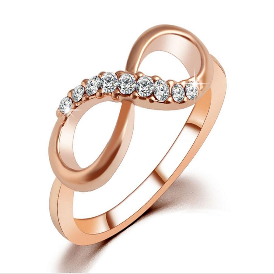 Infinity ring rose gold plated infinity rings for women for Infinity ring jewelry store