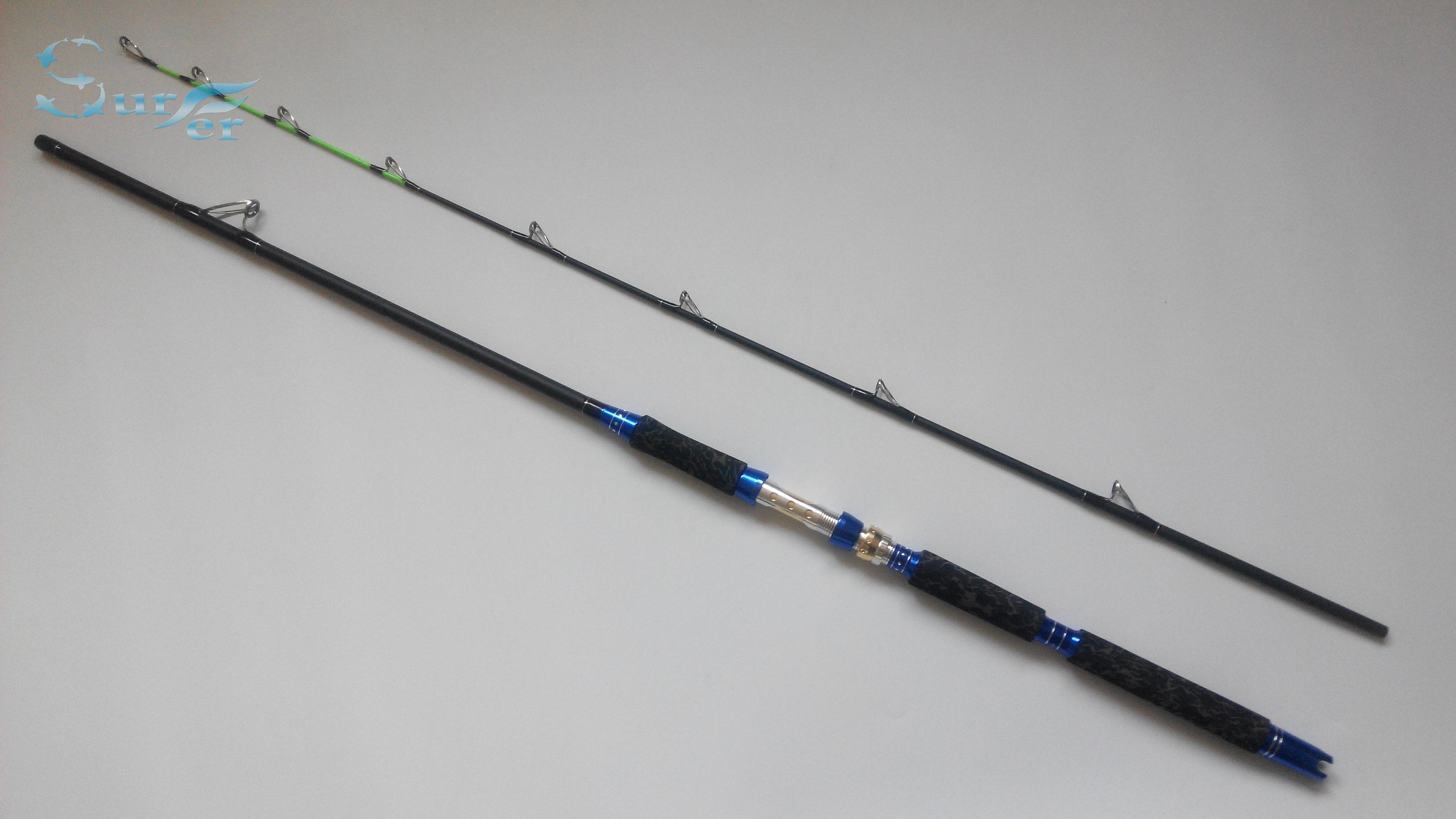 Gigging trolling spinning boat fishing rod carbon fibre 1 Trolls fishing pole