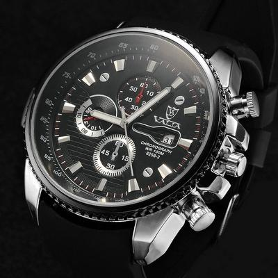 fashion watches men luxury brand rubber strap quartz watch casual fashion watches men luxury brand rubber strap quartz watch casual men watch wristwatch valia brand 8258