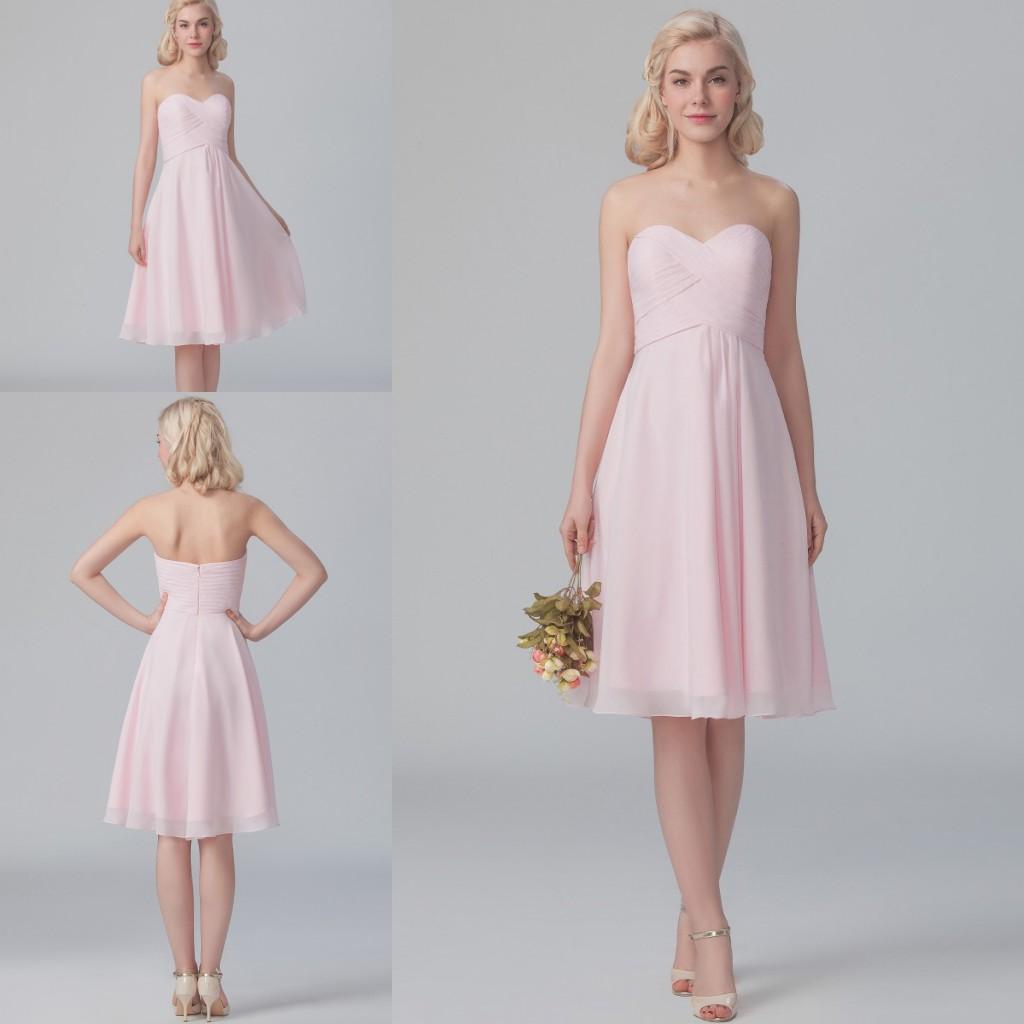 2015 short pink popular bridesmaids dresses