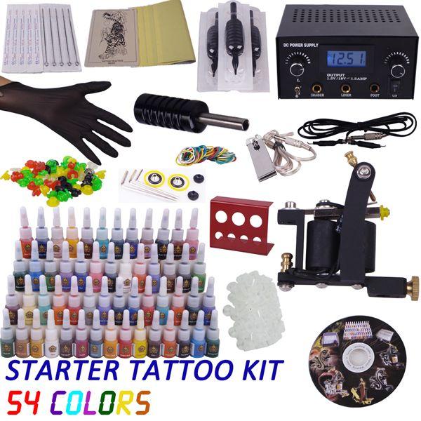 Starter complete set tattoo kit 1 tattoo machine gun inks for Starter tattoo kits