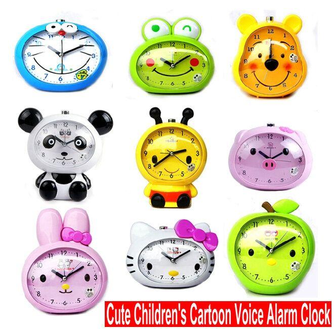 2017 Creative Children'S Cartoon Talking Alarm Clock Cute ...