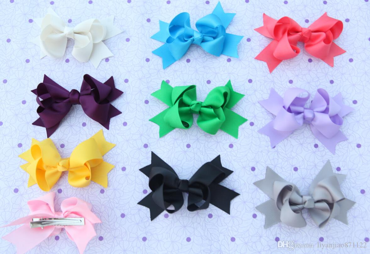 Be best hair accessories for baby - 30pcs 3 5 Baby Girl Ribbon Big Bow Hair Clip Baby Rosette Hairpins Hair Grips