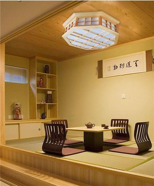 Discount japanese style indoor lighting ceiling lights washitsu tatami decor shoji lamp wood and - Japanisches wohnzimmer ...
