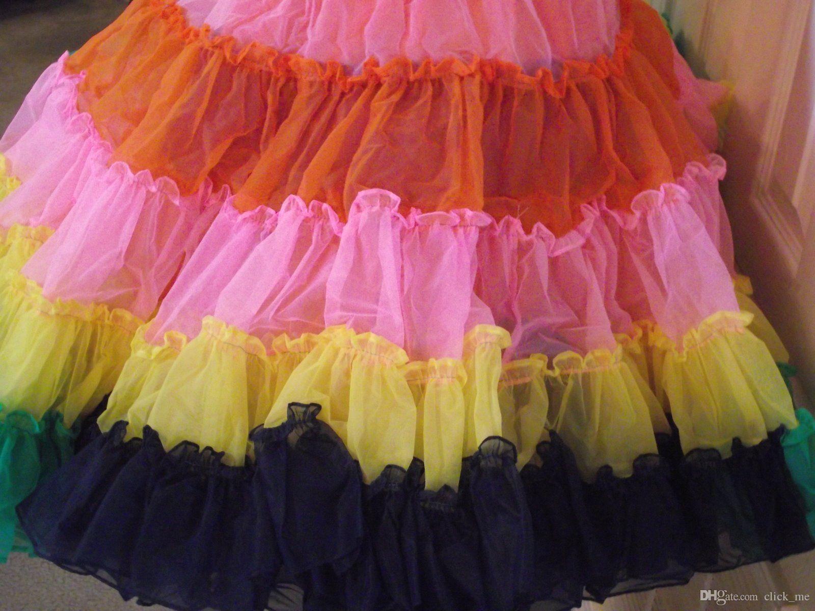 Bonito Arco Iris De Color Vestidos De Dama Cresta - Colección de ...