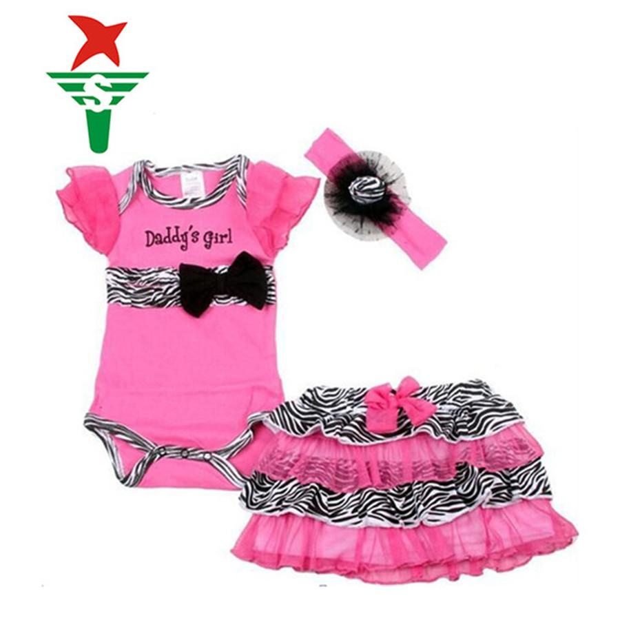 2017 Newborn Baby Girl Clothes Set Short Romper Tutu Skirt  ...