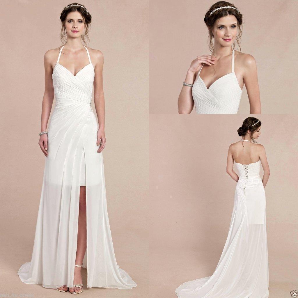 2016 sexy halter wedding dresses cheap custom made chiffon for Cheap allure wedding dresses
