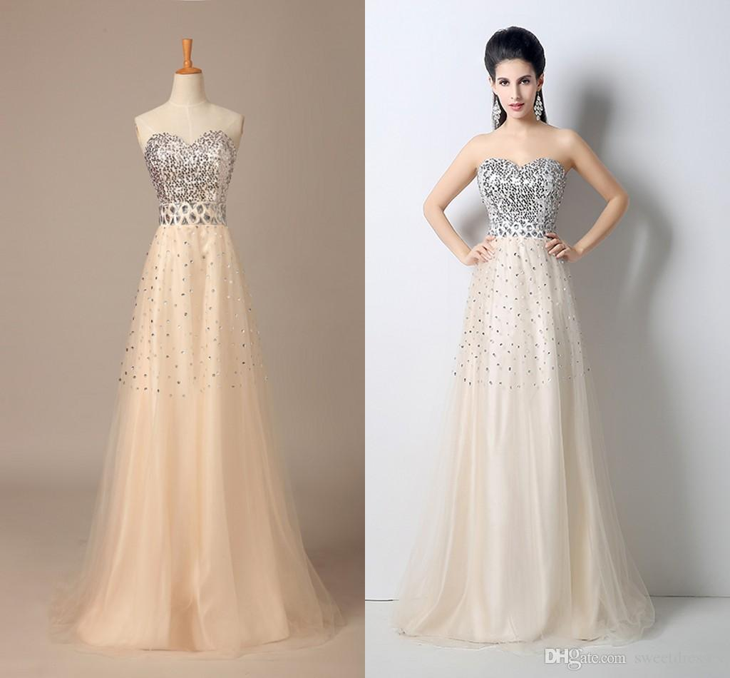Cheap A-Line Dresses Party Evening Sweetheart Lace-Up Back Floor ...