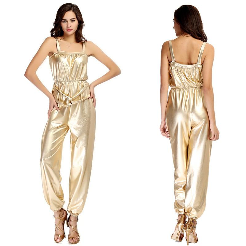 2015 Summer Rompers Womens Jumpsuit Bronzing Camisole