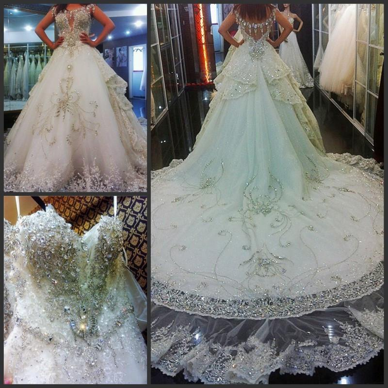 2016 Expensive Wedding Dresses Luxury Bling Bling With