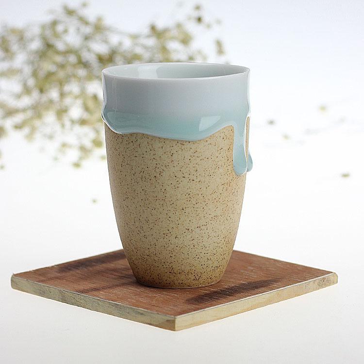 Creative Ceramic Cups, Teacup, Flow Glaze Cup, Couple Cup, Ice ...