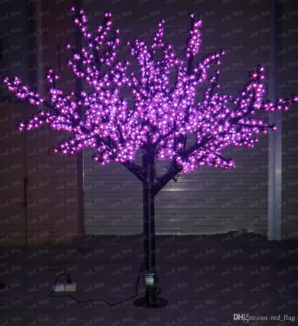 2017 2m High Quality Outdoor Led Cherry Tree Lights Led Artificial Blossom