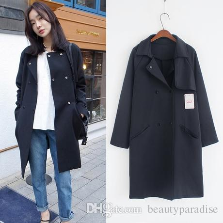 Trench Coat For Women 2015 Autumn Winter Korean Style Casual ...