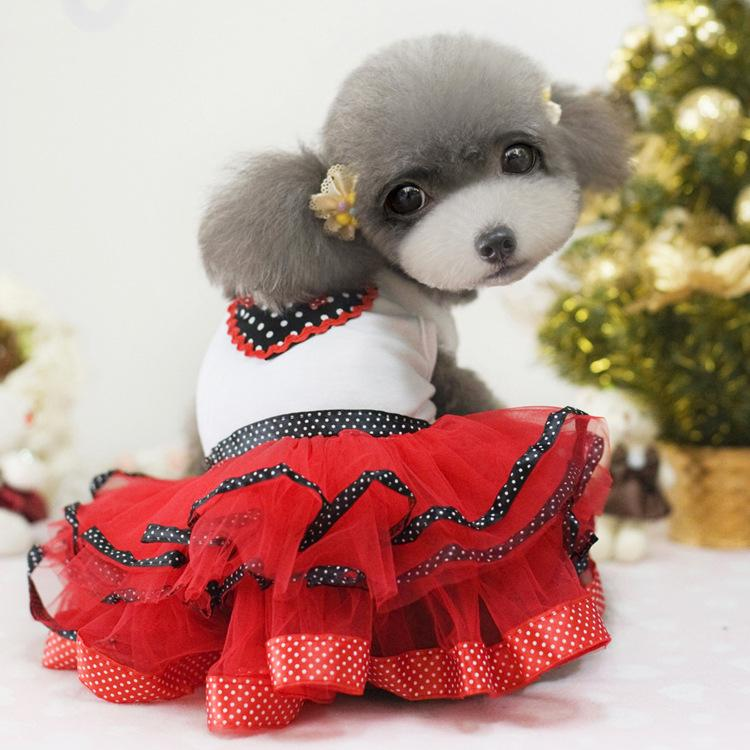 2017 New Dream Bows Pet Puppy Dogs Skirt Girl Princess Gown ...