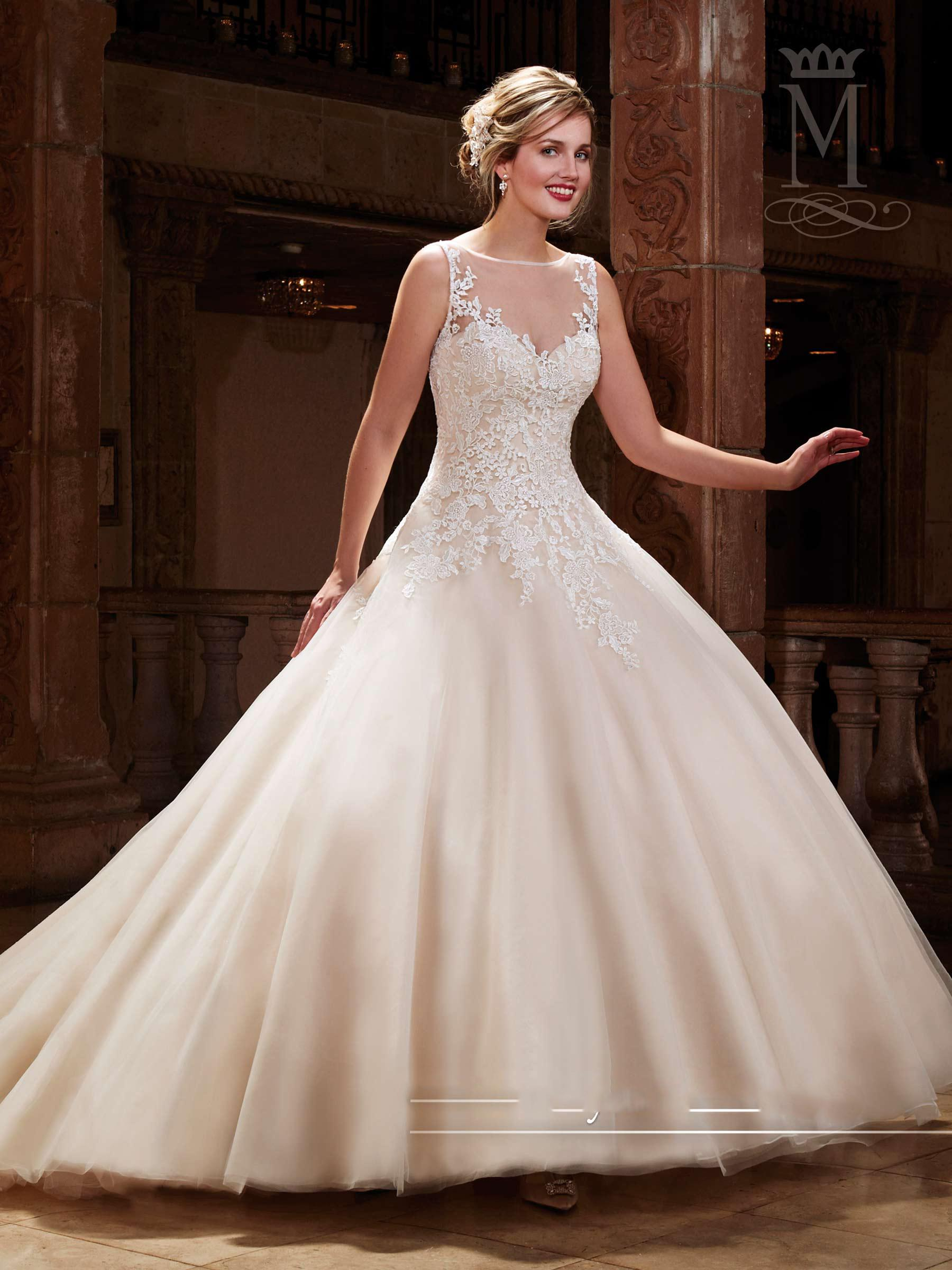 Discount 2016 Best Selling A Line Wedding Dresses Crew Sleeveless Covered But