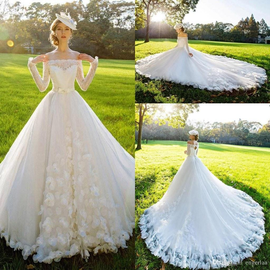 2015 Wedding Dresses Vintage Summer Garden Key Hole Back Wedding