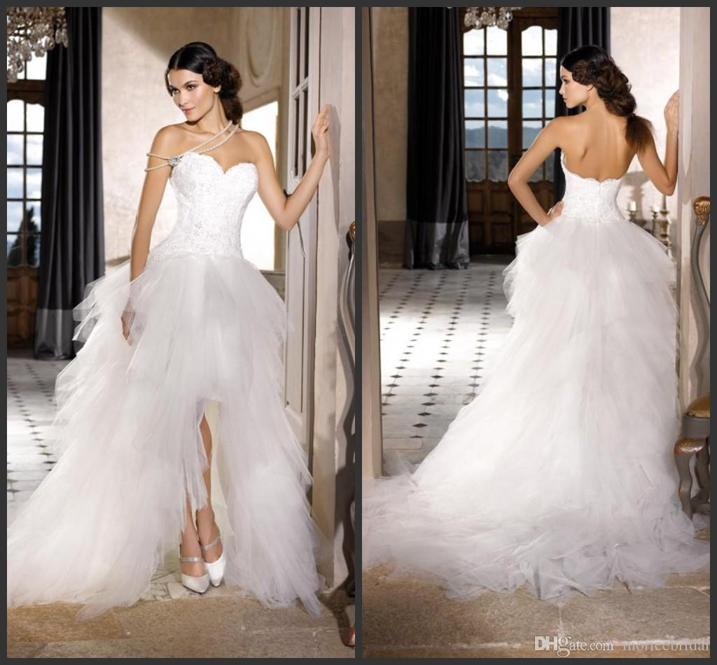 Discount Sexy High Low Asymmetrical Wedding Dresses 2016
