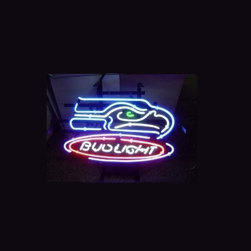 2017 Football Bud Light Neon Sign Store Display Beer Bar