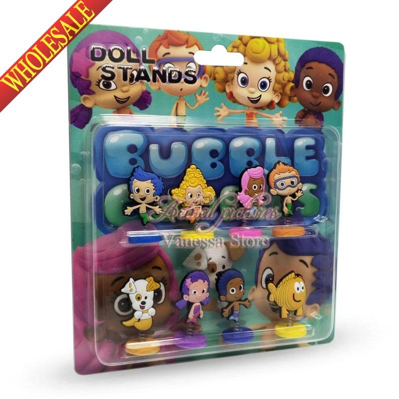 New In Box Bubble Guppies Cartoon Spring Dolls Pvc Action Figure