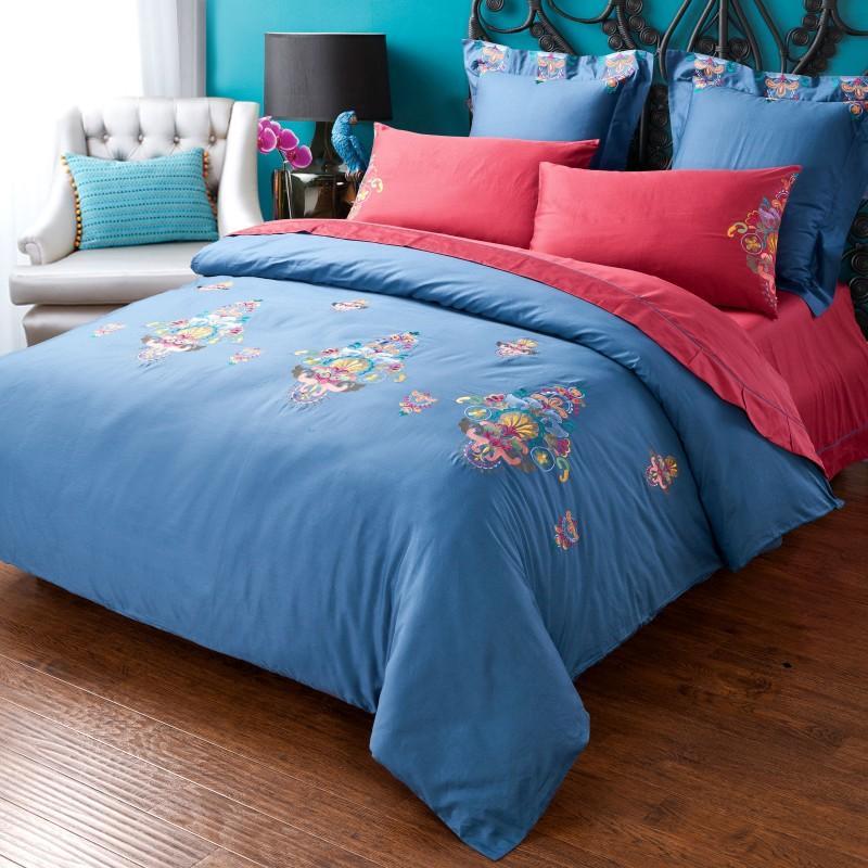 Davebella Autumn Winter Embroidery Bedding Sets American
