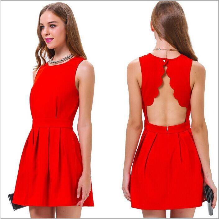 Online Cheap New Women Summer Dress Fashion Women Red Lace Dress ...