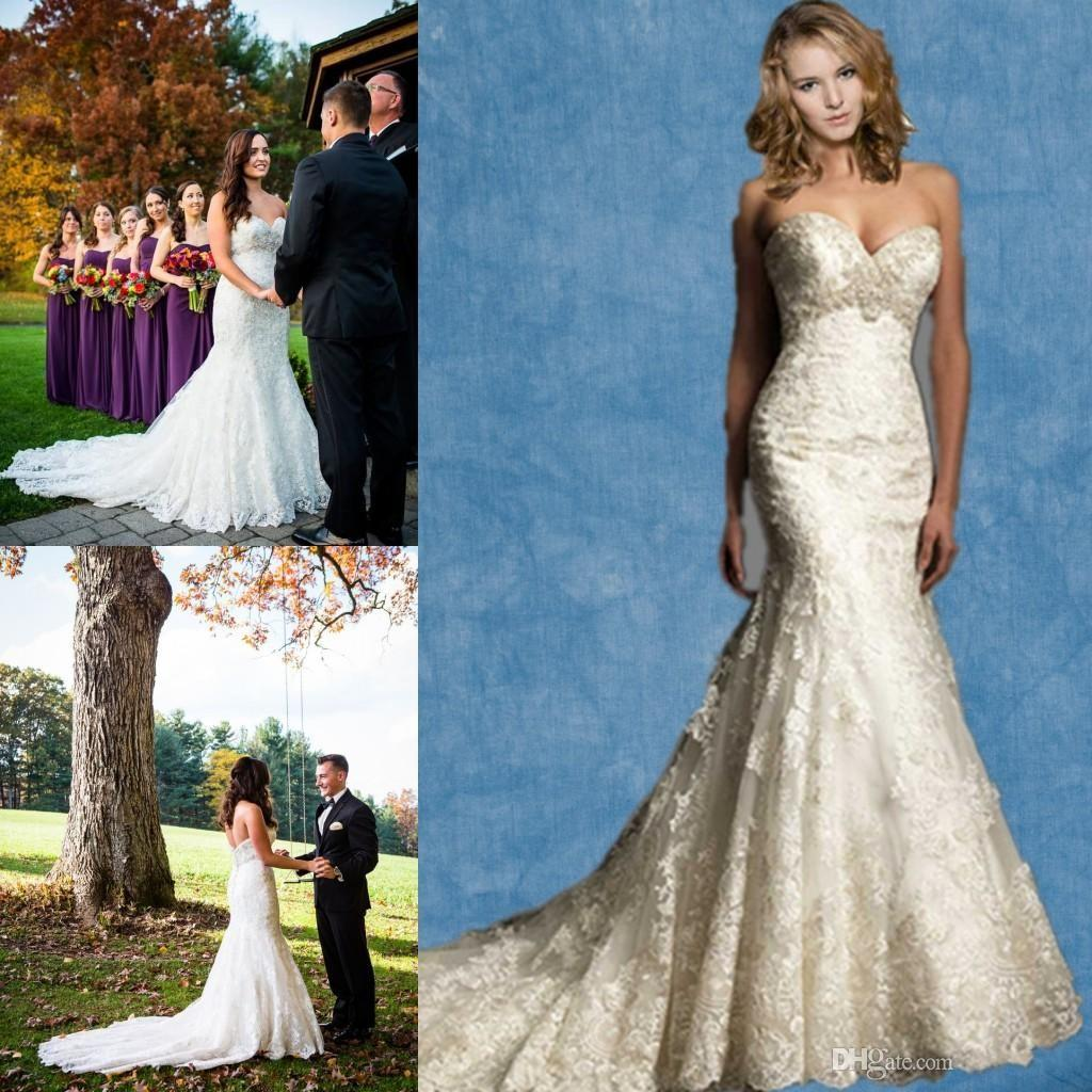 2015 mermaid wedding dresses beading fit and flare sexy for Plus size fall wedding dresses