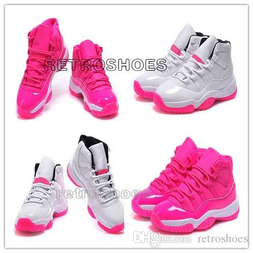 VI Women Basketball Shoes Pink/white Retro 11 Women Shoes 2015 Outdoor Sports Shoes Wholesale Cheap Sneakers Online All Size in Stock Online with ...