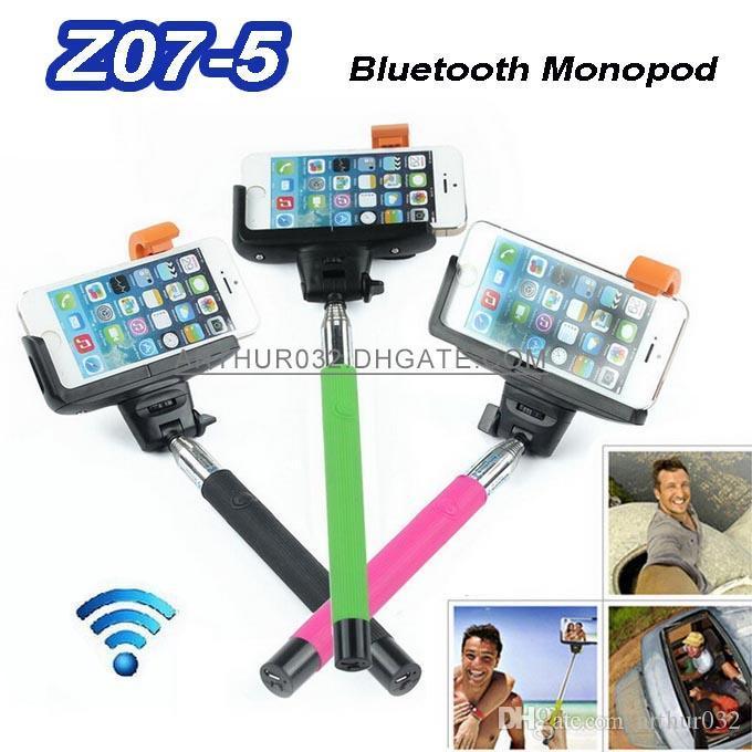 2017 z07 5 2in1 wireless bluetooth monopod selfie stick tripod handheld remote control self. Black Bedroom Furniture Sets. Home Design Ideas