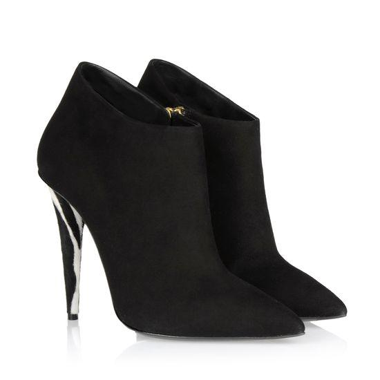 Black Short Ankle Boots For Women 2015 Thin High Heels Pointed Toe ...