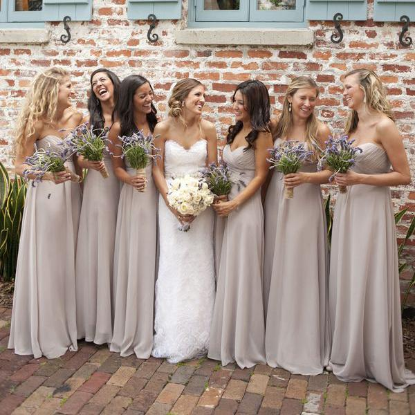 Pale Grey Chiffon Junior Bridesmaid Dresses Custom Cheap Coast ...