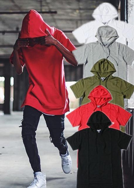 Brand 2015 New Man Fashion Casual Hoodies Men Red/Green/White/Gray ...