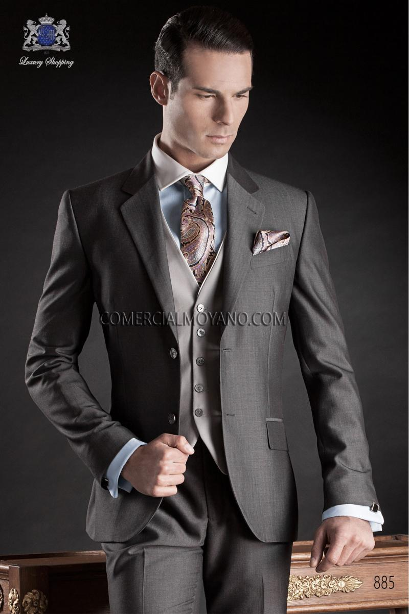 Latest Customized Top Selling Wedding Suit Grey Slim Fit 2015