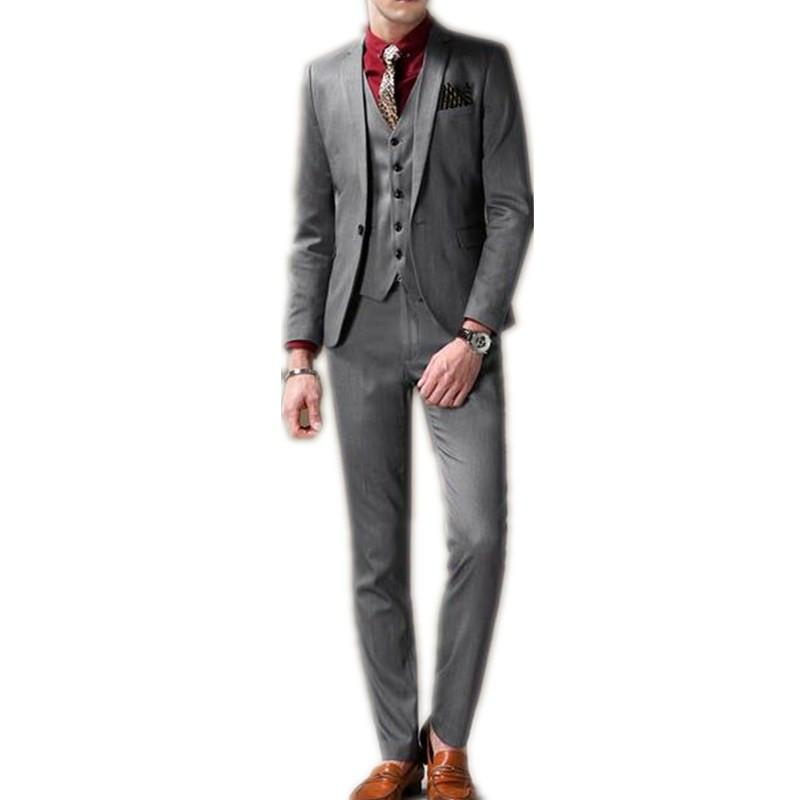 High Quality Man'S Suits Blazers Gray Fashion Man'S Formal Wear ...