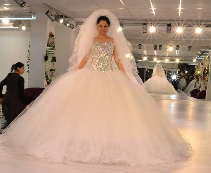 2015 puffy ball gown wedding dresses plus size top fully for Fully beaded wedding dresses