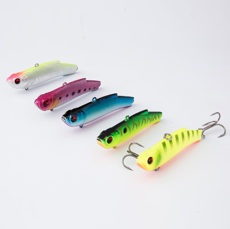 2016 new 7cm/18g colorful fishing lures hard plastic vib sinking, Soft Baits