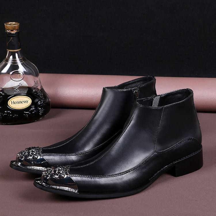 Discount Black Leather Chukka Boots Men | 2017 Black Leather ...