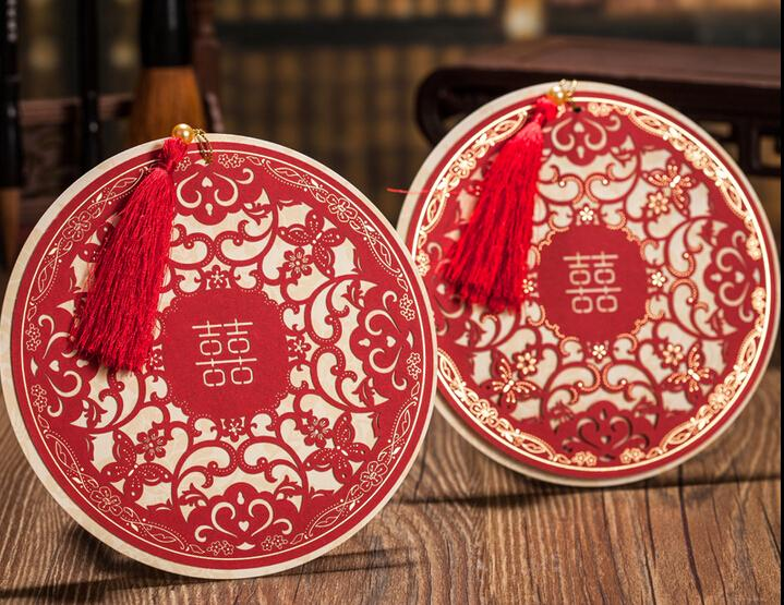 New Wedding Invitations Crad Custom Print Wedding Cards Round – Custom Printed Wedding Invitations