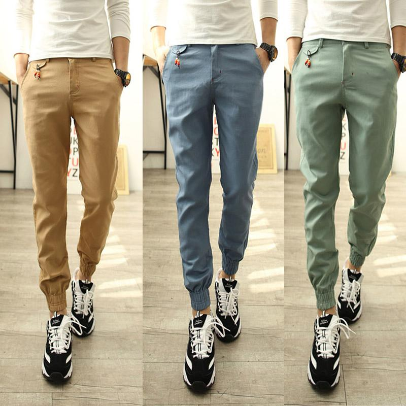 2016 New Jogger Fashion Fit Mens Casual Pants Business Trousers ...
