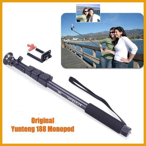 2017 original yunteng 188 black autodyne portable handheld telescopic selfie stick monopod. Black Bedroom Furniture Sets. Home Design Ideas