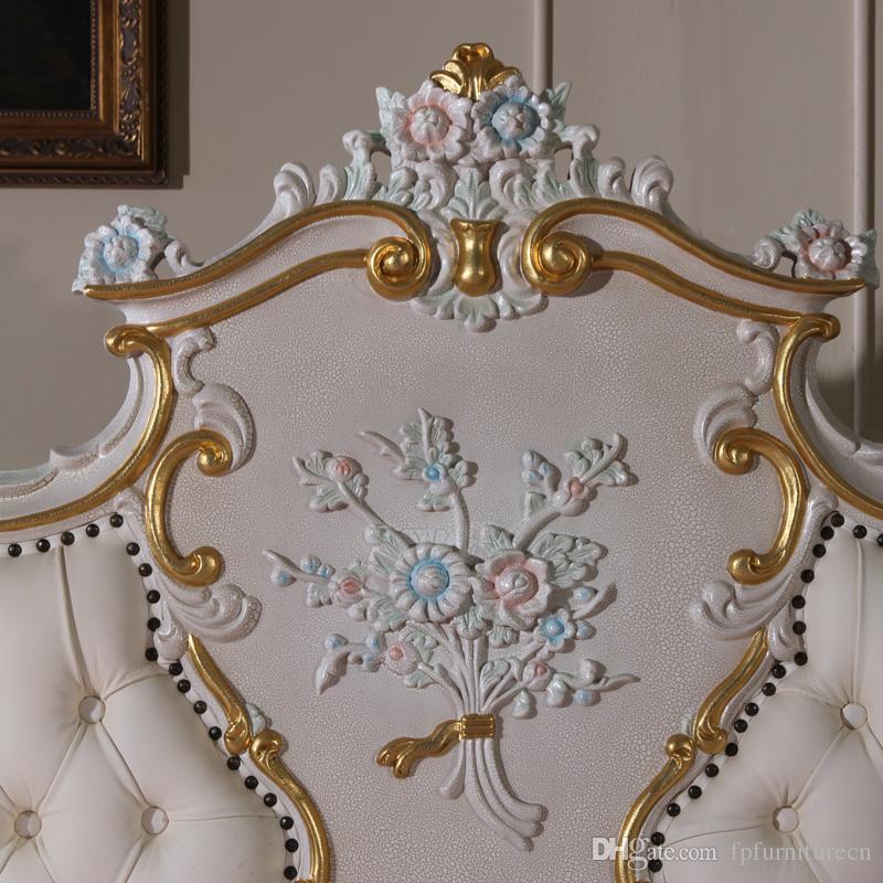 Francese camera da letto mobili in stile   legno antico mano ...