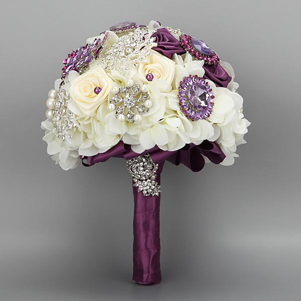 Purple And Ivory Wedding Flowers. purple lisianthus and ivory roses ...