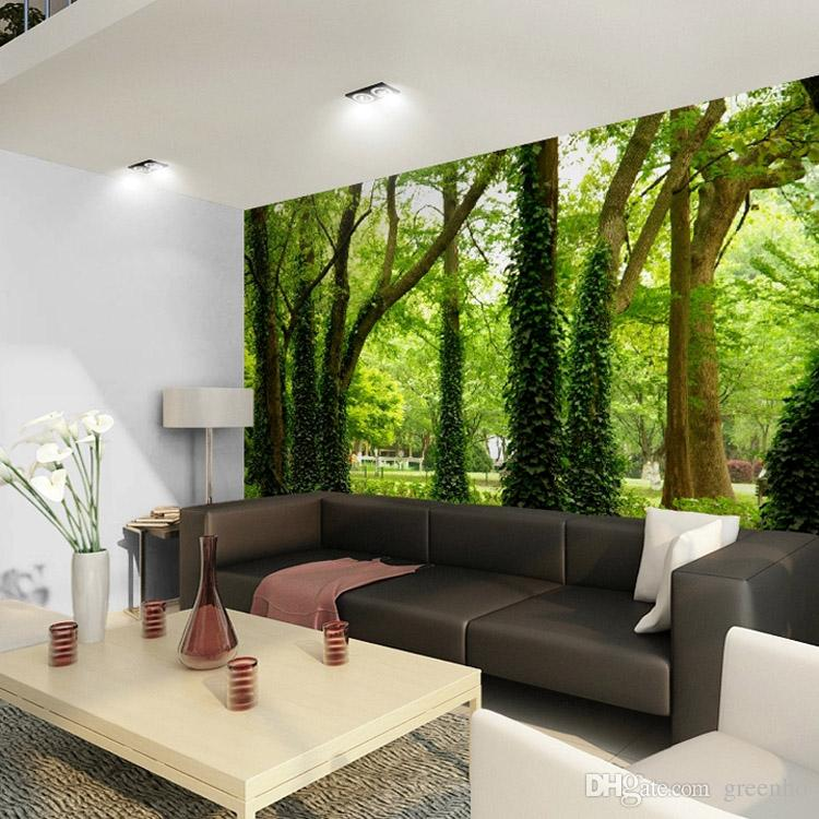 Beautiful woods wallpaper custom wall mural nature for Nature room wallpaper