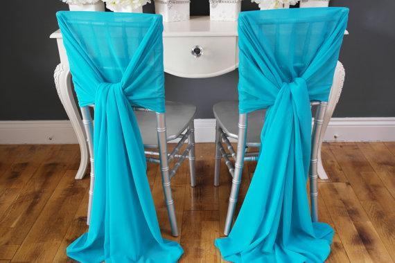 2017 New Arrvail Turquoise Chair Sashes For Wedding