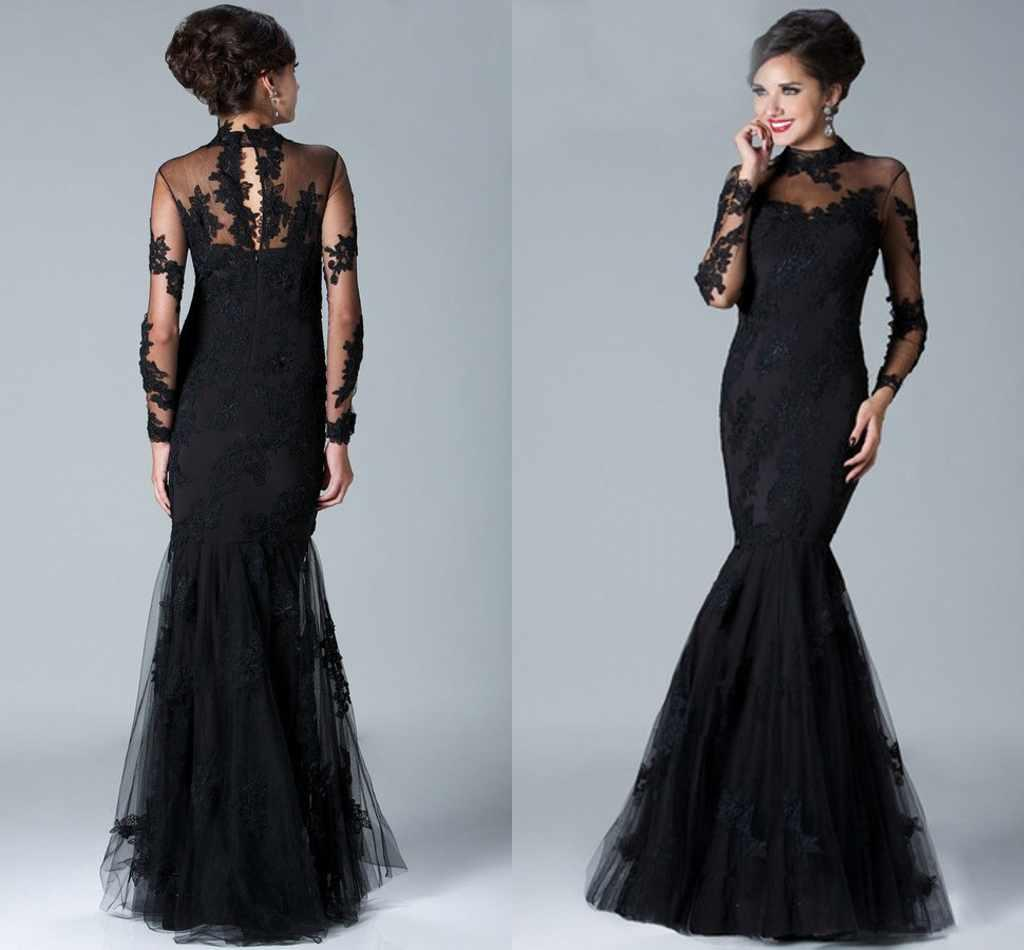 Long Sleeves Mother Bridal Dresses Lace Mermaid