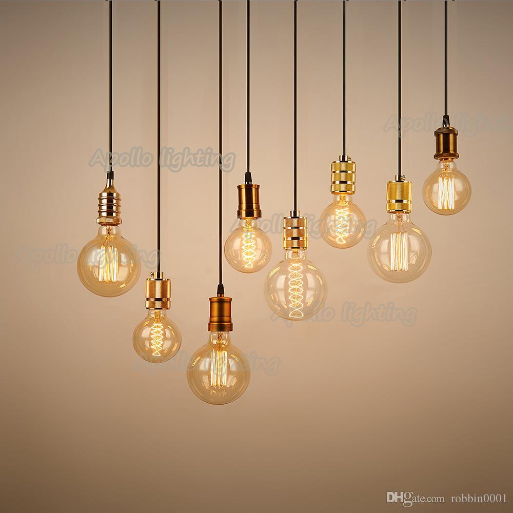 edison lampadina : Edison della lampadina retro fai da te e27 spirale incandescente ...