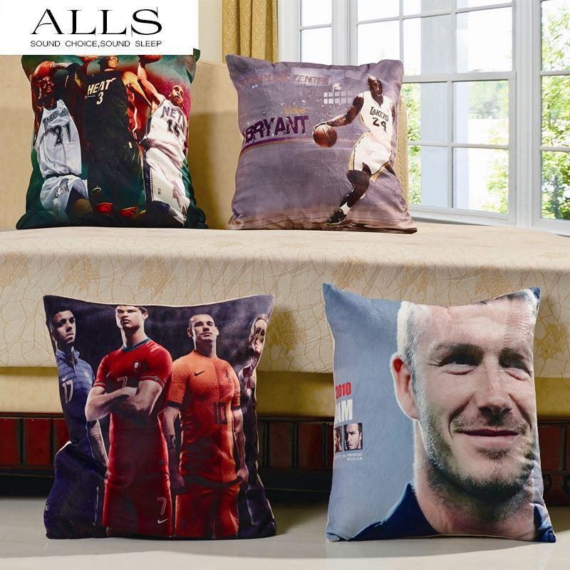 Home Decor 3d Football Basketball Star Kobe Bryant Cristiano Ronaldo Cushion Cover Square Throw Pillow Cover