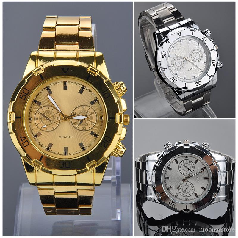 fashion mens gold silver watch luxury watches men business dress fashion mens gold silver watch luxury watches men business dress quartz watch wristwatches shipping mpj583