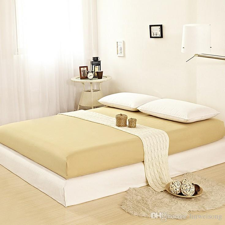 2017 10 solid colors queen king size fitted sheet memory foam mattress topper never fade shrink. Black Bedroom Furniture Sets. Home Design Ideas