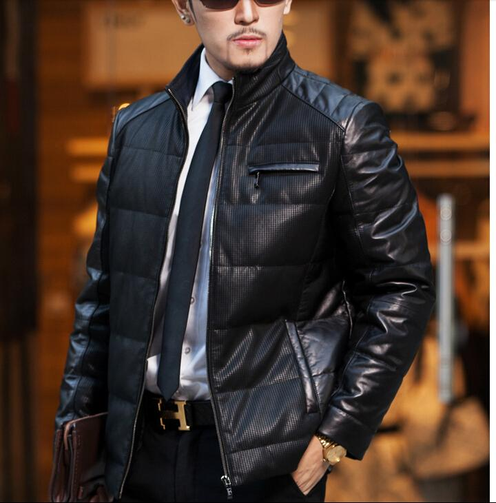 2017 2016 New Men'S Jacket Down Jackets Imported Leather Sheepskin ...